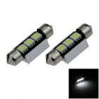Canbus Festoon 36mm 0.8W 60lm 3 x SMD 5050 LED White Car Roof light / Reading Lamp - (12V / 2 PCS)
