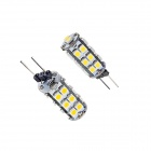 OOQ G4 1.5W 50lm 26 x SMD 3528 LED White Light Lamp Bulb - White (12V / 2 PCS)