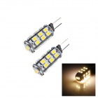 OOQ G4 1.5W 50lm 2700K 26 x SMD 3528 LED Warm White Light Lamp Bulb - (12V / 2 PCS)