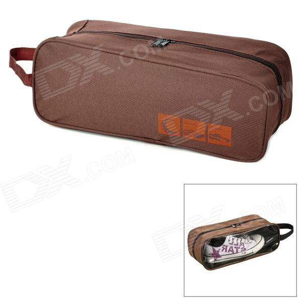 Creeper Travel Portable Zipper Shoes Storage Bag - Coffee