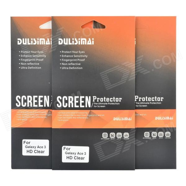 DULISIMAI PET Clear Screen Protectors for Samsung Galaxy Ace 3 / S7272 - Transparent (3 PCS) стоимость