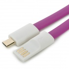 Micro 5pin USB Charging / Data Flat Cable for Cellphones - Purple (120cm)