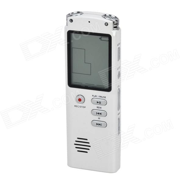 Thchi YMX-R38 1.6 Rechargeable Digital Voice Recorder MP3 Player- White(8GB) best battery brand mp3 mp4 free shipping 3 7v lithium battery 061530 601533 250mah mp4 mp5 voice recorder small toys gps 37v