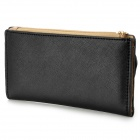 Fashion Punk Skull Style PU Leather Long Wallet - Black