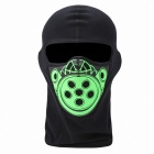 QNGLONIN BR-02 Motorcycle Riding Outdoor Wind Dust Warm Mask - Black + Green