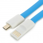 Micro 5pin USB Charging / Data Flat Cable for Cellphones - Blue (122cm)