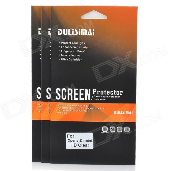 DULISIMAI Protective PET Clear Screen Protectors for Sony Xperia Z1 Mini - Transparent (3 PCS)
