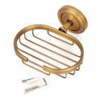 PHASAT 8008 Stylish Retro Wall Mounted Brass Soap Holder - Antique Brass