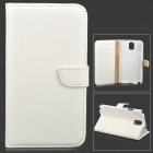 DYTI-073 protection Flip PU ouvert + boitier w / Stand pour Samsung Note 3 - blanc