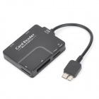3305 Micro USB 3.0 OTG Card Reader for Samsung Galaxy N900 / N9006 / N9002 / N9009 / N9008 - Black