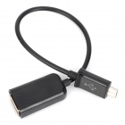 OTG Data Cable for HTC/ Sony / Samsung S4 i9300 / Note 2 - Black (22cm)