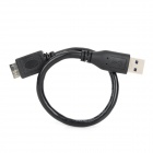 USB Male to USB 3.0 Male Data & Charging Cable for Samsung Note 3 / N9008 / N9006 - Black (30CM)