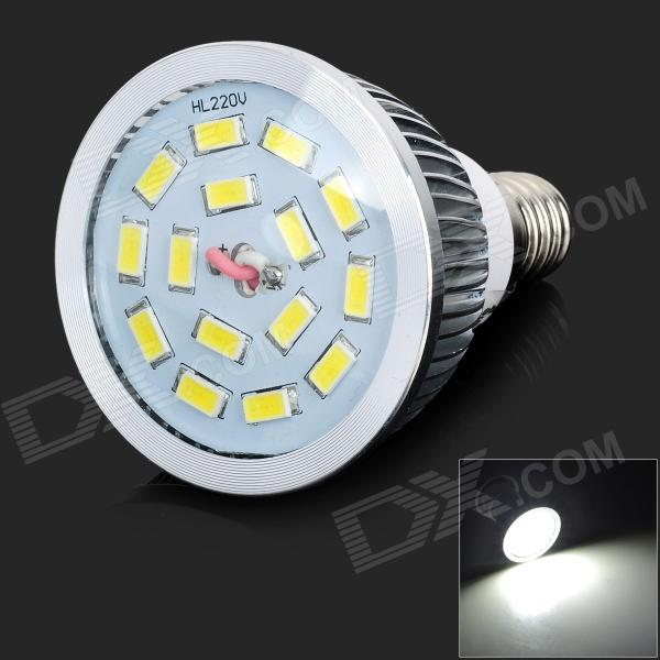 LeXing LX-SD-055 Dimmable E14 6W 550lm 7000K 15 x SMD 5730 LED White Light Spotlight - (AC 220~240V) lexing lx qp 20 e14 6w 470lm 3500k 15 5730 smd led warm white light dimmable lamp ac 220 240v