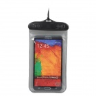 Outdoor Sport Waterproof Protective Case w/ Strap for Cellphones - Black + Grey
