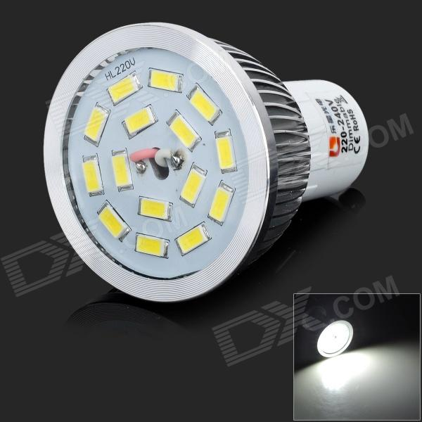 lexing LX-SD-051 Dimmable GU10 6W 550lm 7000K 15 x SMD 5730 LED White Light Spotlight (AC 220~240V) lexing lx qp 20 e14 6w 470lm 3500k 15 5730 smd led warm white light dimmable lamp ac 220 240v