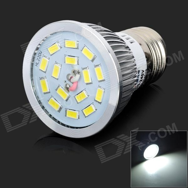LeXing LX-SD-053 Dimmable E27 6W 550lm 7000K 15 x SMD 5730 LED White Light Spotlight - (AC 220~240V) lexing lx qp 20 e14 6w 470lm 3500k 15 5730 smd led warm white light dimmable lamp ac 220 240v