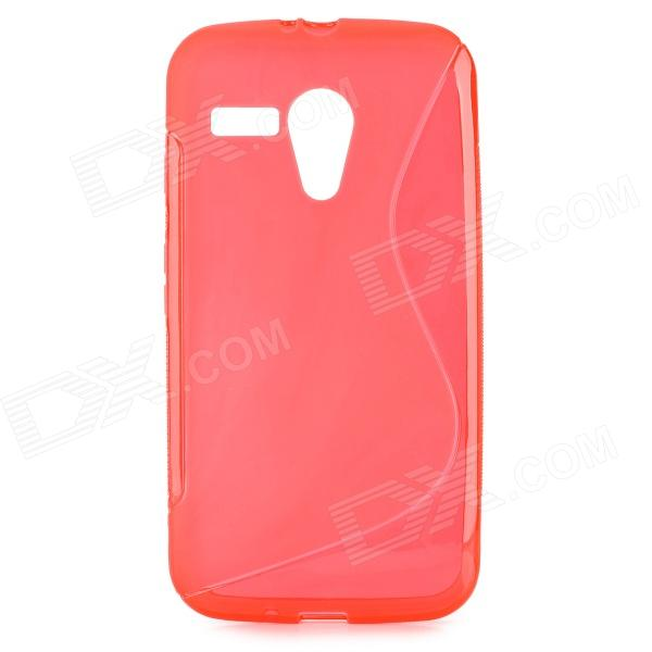 S Style Anti-Slip Protective TPU Back Case for MOTO G - Red ceramic styling tools professional straightening iron