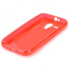 """S"" Style Anti-Slip Protective TPU Back Case for MOTO G - Red"