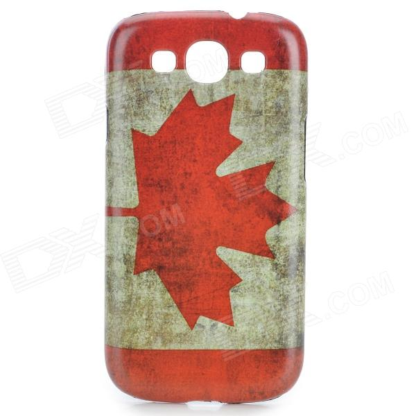 Canadian Flag Pattern Protective PC Back Case for Samsung Galaxy S3 i9300 - Red + White protective germany national flag pattern case for samsung galaxy s4 i9500 black red yellow
