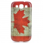 Canadian Flag Pattern Protective PC Back Case for Samsung Galaxy S3 i9300 - Red + White