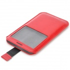 Étui PU de protection w / Window pour Samsung Galaxy Note 3 / N9000 - Rouge