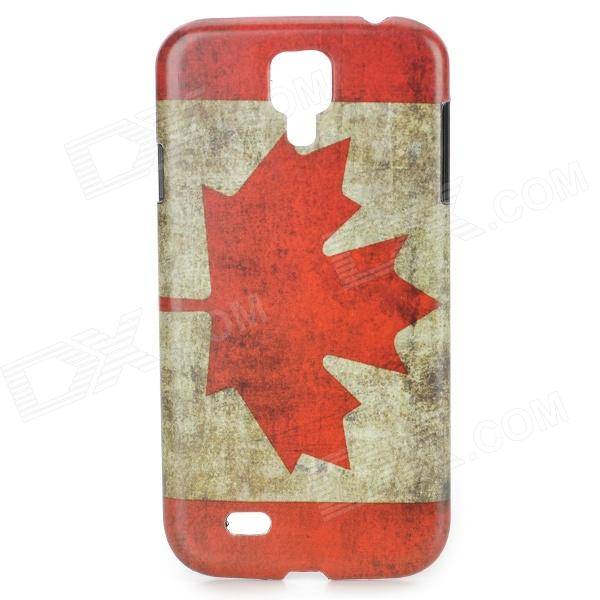 Retro The National Flag of Canada Style Protective PC Back Case for Samsung Galaxy S4 i9500 - Red london street style protective plastic back case for samsung galaxy s4 i9500 black red