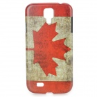 Retro The National Flag of Canada Style Protective PC Back Case for Samsung Galaxy S4 i9500 - Red