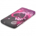 Love Heart Style Protective TPU Back Case for LG Nexus 5 - Black + Purple