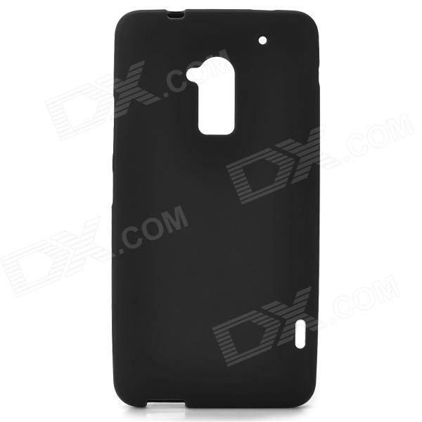Protective Frosted TPU Back Case for HTC One Max / T6 / 809D / 8088 - Black protective matte frosted back case for htc one x s720e black