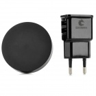 Universal Mini 1A QI Wireless Charger w/ EU Plug Adapter - Black (100~240V)