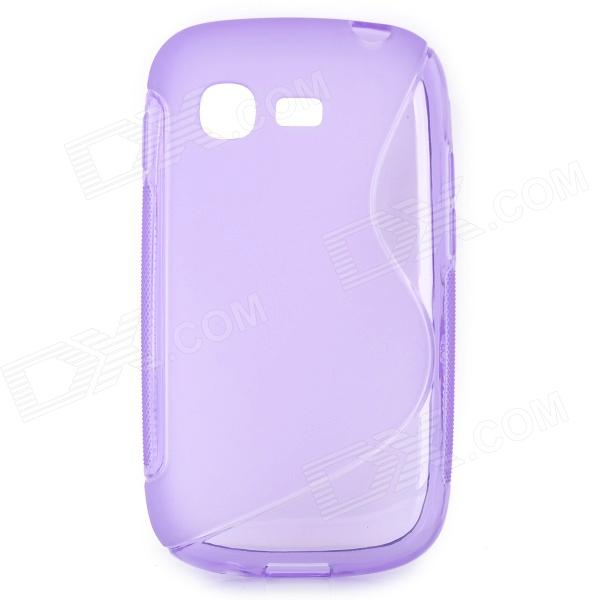 S Style Anti-Slip Protective TPU Back Case for Samsung Galaxy Pocket Neo S5310 - Purple protective flip open pu leather plastic case for iphone 5c blue
