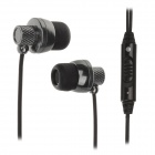 KEENION KOS-E007 Stylish Stereo Bass In-Ear Earphones w/ Volume Control - Black (3.5mm Plug)