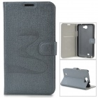 Protective PU Leather Magnet Buckle Case for Samsung Galaxy Note 2 N7100 - Grey