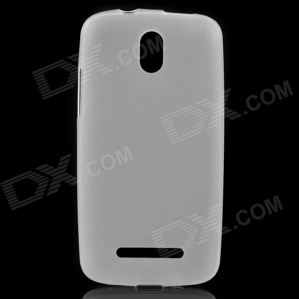 Protective TPU Matte Back Case for HTC Desire 500 / 509D - White