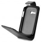 Protective Top Flip Open PU Leather Case for Samsung Galaxy Fame Lite S6790 - Black
