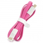 Universal Micro 5pin USB Charging / Data Flat Cable - Pink (120cm)