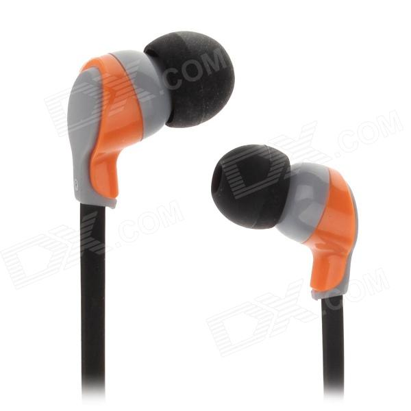 KEENION KOS-E003 Stylish Stereo In-Ear Earphones - Black + Orange (3.5mm Plug / 120cm-Cable)