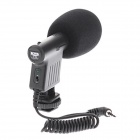 BOYA BY-VM01 Stereo Video Microphone for SLR cameras - Black (3.5mm Plug / 20cm-Cable / 1 x AAA)