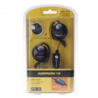 KEENION KDM-010 Ear-hook Earphones w/ Volume Control / Microphone - Black (3.5mm Plug / 230cm-Cable)
