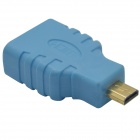 HDMI Female to Micro HDMI Male Adapter - Blue