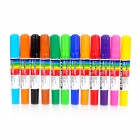 Convenient Dual Tip 12-color Oil Marking Pen - Multicolored (12 PCS)