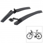TOPCYCLING Plastic Bike Front / Rear Mudguard Set - Black