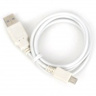 Micro USB Male to USB Male Data Sync & Charging Cable for Samsung + More - White