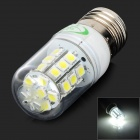 XYT E27 5.4W 540lm 6500K 27 x SMD 5050 LED White Light Lamp w/ Acrylic Cover - Silver (120~265V)