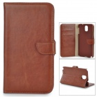 DYTI-073 Protective PU + PC Case w/ Stand for Samsung Note 3 - Brown