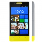 "H3039 Dual Core Android 2.3 WCDMA Bar Phone w/ 4.0"" / Dual Camera / Wi-Fi - Grey + Yellow"