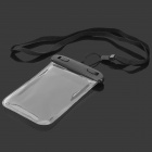 Outdoor Sport Waterproof Protective Case w/ Strap for Cellphones - Black + Transparent White