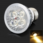 Zweihnder E27 5W 480LM 3200K Warm White 5-6063 SMD LED Lamp - Silver + White (95~245V)