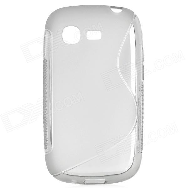 S Pattern Protective TPU Back Case for Samsung Galaxy Pocket Neo S5310 - Grey