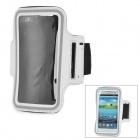 IKKI Sports Gym Neoprene Armband Case for Samsung Galaxy S3 / S4 i9500 / HTC ONE X / M7 - White